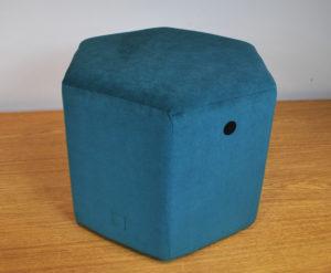 Puff Hexagonal turquesa REmuebles 1